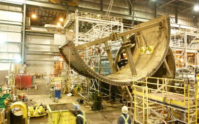 Kemess Mines: Ball Mill Dismantling